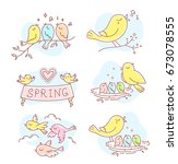 vector set of illustration of... | Shutterstock .eps vector #673078555