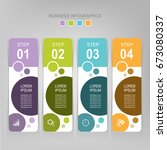 infographic template of four... | Shutterstock .eps vector #673080337