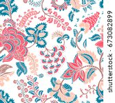 seamless pattern with fantasy... | Shutterstock .eps vector #673082899