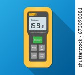 laser distance meter... | Shutterstock .eps vector #673090381