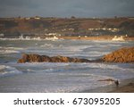 rocky surf   Shutterstock . vector #673095205