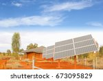 solar panel system  clean... | Shutterstock . vector #673095829