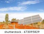 solar panel system  green...