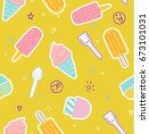 summer   ice cream   fun | Shutterstock . vector #673101031