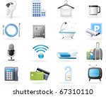 hotel accommodation amenities | Shutterstock .eps vector #67310110