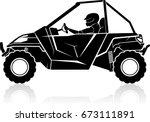Driving Utility Terrain Vehicle (UTV)