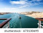 The Suez Canal   A Ship Convoy...