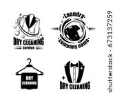 Dry Cleaning Logo Set With...