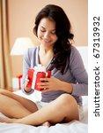 portrait of brunette sitting on ... | Shutterstock . vector #67313932