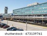 montreal  canada   8 june 2017  ... | Shutterstock . vector #673139761