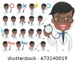 collection of illustrations of... | Shutterstock .eps vector #673140019