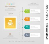 infographics design template... | Shutterstock .eps vector #673143439