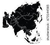 map of asia | Shutterstock .eps vector #673144585