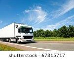 white truck on highway | Shutterstock . vector #67315717