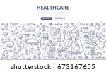 doodle vector illustration of a ... | Shutterstock .eps vector #673167655