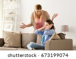 people  conflict and family...   Shutterstock . vector #673199074