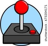 joystick controller | Shutterstock .eps vector #673204171