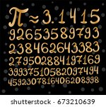 inscription number pi  print ... | Shutterstock .eps vector #673210639