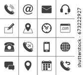 contact vector icons set ...