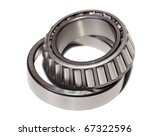 conical roller bearing. Isolated on white background  with clipping path - stock photo