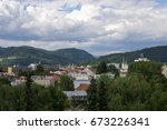 clouds over the town. slovakia | Shutterstock . vector #673226341