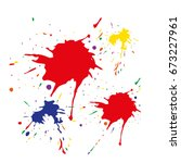 watercolor stains. vector... | Shutterstock .eps vector #673227961