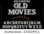 font handcrafted vector script... | Shutterstock .eps vector #673229911