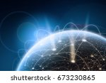 global network concept. 3d... | Shutterstock . vector #673230865