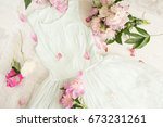 glamor elegant evening party... | Shutterstock . vector #673231261