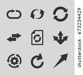 reload icons set. set of 9... | Shutterstock .eps vector #673234429