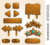 set of wooden buttons for...