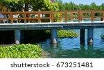 lake and resort in heviz   it...   Shutterstock . vector #673251481