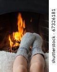 Children\'s Feet In Warm Woolen...