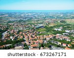 panorama of republic of san... | Shutterstock . vector #673267171