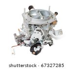New carburettor. Isolated on white background  with clipping path - stock photo