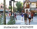 banff. alberta. canada. july 2... | Shutterstock . vector #673274599