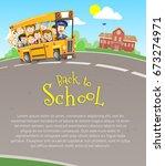 vector illustration of happy... | Shutterstock .eps vector #673274971