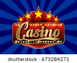 advertising signboard casino in ... | Shutterstock .eps vector #673284271