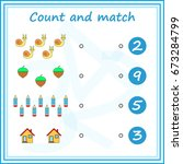 counting game for preschool... | Shutterstock .eps vector #673284799