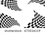 checkered racing flag isolated... | Shutterstock .eps vector #673316119