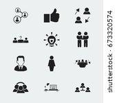 set of 12 editable job icons.... | Shutterstock .eps vector #673320574