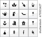 set of 16 editable planting...