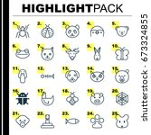 animal icons set. collection of ... | Shutterstock .eps vector #673324855