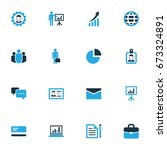 business colorful icons set.... | Shutterstock .eps vector #673324891
