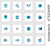 media colorful icons set.... | Shutterstock .eps vector #673326409