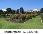Stock photo exposition park rose garden beautiful day 673329781