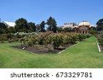 Stock photo exposition park rose garden beautiful day 673329781