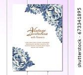 vintage delicate invitation... | Shutterstock .eps vector #673341895