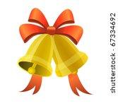 merry christmas bell | Shutterstock .eps vector #67334692