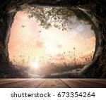 world environment day concept ... | Shutterstock . vector #673354264